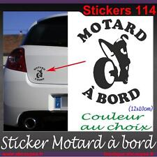 Sticker autocollant Motard à bord - Honda Yamaha Suzuki Kawasaki Ducati - 114