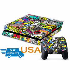 Cool Game Decal Cover Skin Sticker For PS4 PlayStation Console 2 Controller USA