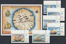 Schiffe  Sao Tome E Principe  598 - 603 + Block 38  ** (mnh)