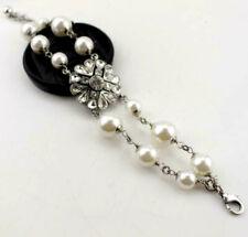 Jewelry Betsey Johnson Charm Rhinestone Enamel Multi-layer pearl Flower Bracelet