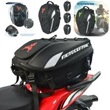 Motorcycle Motorbike Rear Seat Tail Bag Storage Case Luggage Pouch Backpack UK