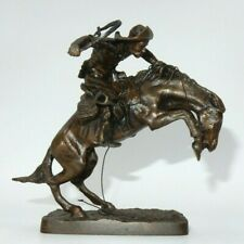 "Franklin Mint ""The Broncho Buster"" Official Frederic Remington Art Museum Figure"