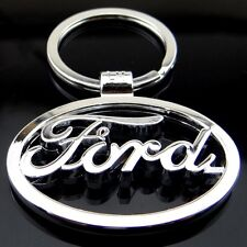 New car logos keychain 3D Chrome Metal Car key Chain keyring With Logo for Ford