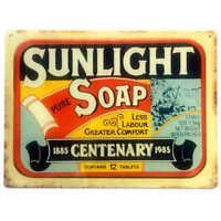 Sunlight Soap Tin Sign Metal Plaque Australian Laundry Advertising 35cm x 26cm