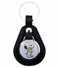 Snoopy Und Peanuts Woodstock Schlüsselanhänger aus Leder