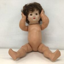 Vintage Short Brown Hair White Doll Made in England#710