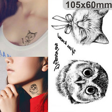 Tattoos Owl Design Tattoo Large Temporary Waterproof Water Transfer Tattoos