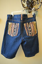 COOGI Authentic Australian Men's Jeans Shorts Gold Stitching Design Pockets 36W