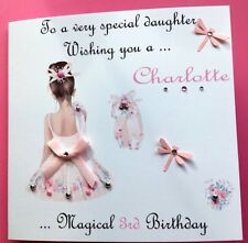 personalised handmade birthday card daughter granddaughter sister niece all ages