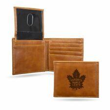 Toronto Maple Leafs NHL Laser Engraved Brown Billfold Wallet