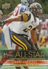 2014 Cfl Cflpa Ud All Stars Simoni Lawrence Tiger-Cats #19 (Minnesota Gophers)
