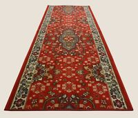 "Oriental Classic Custom Size Antibacterial Non Skid Red Runner by Feet Rug 26""W"