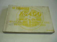 Yamaha Fahrerhandbuch XS 400 DOHC Betriebsanleitung Bedienungsanleitung
