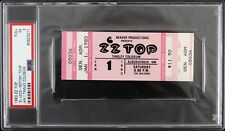 1983 Zz Top Full Concert Ticket Slabbed (Psa Ex 5)