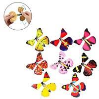 1/3PCS Magic Props Flying Butterflies Rubber Band Powered L6D9 Surprise F1Q8