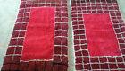 Set of 2 Berber Handmade Moroccan Wool Rug Azilal Tribal carpet Beni Ourain Rug