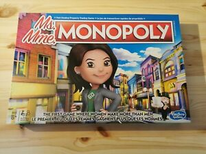 Hasbro Ms Miss Monopoly Edition Property Trading Board Game New Sealed