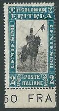 1930 ERITREA SOGGETTI AFRICANI 2 CENT MNH ** - M29-4