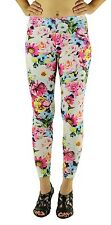 USA New Floral Colorful Flowers Tartan Pastel Sport Yoga Stretchy Leggings Pants