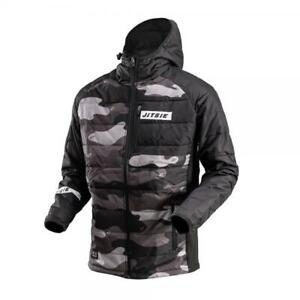 JITSIE PUFFER PUFFA TRIALS BIKE CASUAL / RIDING JACKET / COAT. CORE CAMO.