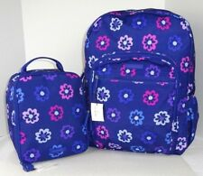 NWT Vera Bradley Lighten Up Campus Backpack AND Lunch Bunch ELLIE FLOWERS