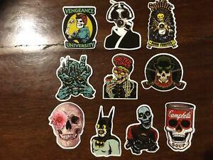 10 x Tattoo art designs skulls vinyl man cave stickers mancaveideas mens gift