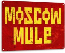 Moscow Mule Whiskey Bourbon Retro Bar Pub Man Cave Wall Art Decor Metal Tin Sign