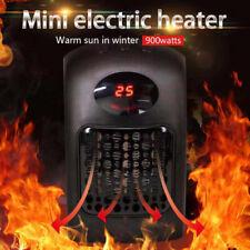 900W Mini Heizlüfter Heizgerät Elektro Heizung Steckdosen Keramik PTC Heizer DHL