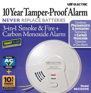 USI electric MIC1509S 3-in-1 Smoke & Fire + Carbon Monoxide Detector