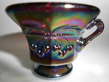 Amethyst purple carnival glass salt dip cellar celt cherry and cable pattern ar