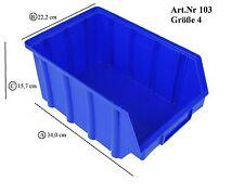 15 Stück Stapelboxen Gr.4  -  340x222x157mm  -  blaues PP  -  NEUWARE