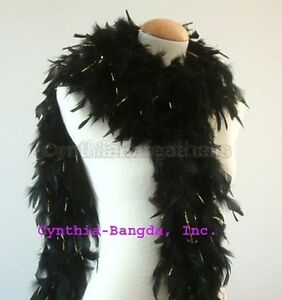 65 Gram Chandelle Feather Boa with Tinsel, ~20 Colors to pick up from NEW!