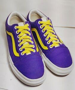 VANS Old Skool Purple/Yellow Low-Top Canvas Skate Sneakers Men's 8/ Women's 9.5M