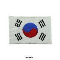 South Korea National Flag Embroidered Patch Iron on Sew On Badge