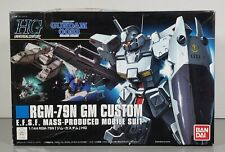 "Bandai 1/144 Hg ""Rgm-79N Gm Custom"" Plastic Model Kit #166784"