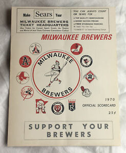 1970 Milwaukee Brewers Official Scorecard - Scored - Game Played May 16, 1970