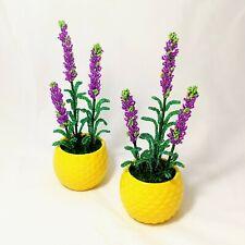 Lavender flower in the pot French Beaded flowers glass lavender handmade 1 pcs