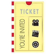 8pk luces de las películas de Hollywood! Cámara! acción! doblado Invitaciones Oscars Fiesta