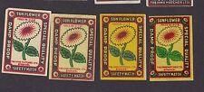 Ancienne   étiquette Allumettes Inde  BN12665 Fleur Soleil  2
