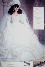 NFRB franklin mint VANESSA ultimate BRIDE DOLL jointed FULL BODY BISQUE w COA