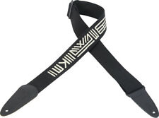 "Levy's Mayan Series 2"" Black Cotton Guitar Strap MC8MAY-BLK"