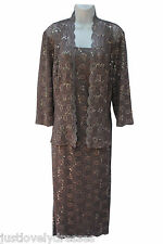 Alex Evenings lace elegant classy mother of the bride dress with jacket  sz 8