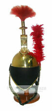 Fireman NEPOLEAN Helmet With Red Plume Brass Victorian Marine Wearable Item