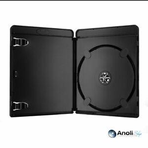 10 Blu Ray Hüllen 11 mm Schwarz für 1 Blu-ray DVD ähnlich Amaray Hülle