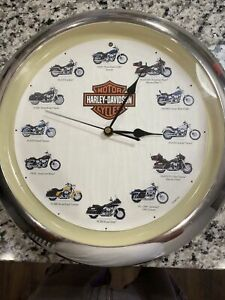 Harley-Davidson Motorcycle Wall Clock With Engine Sound on Each Hour Tested