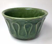 Vintage MCM McCoy Green Plant Pot Pottery Floraline 506