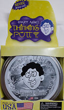 "Liquid Glass Crystal Clear Crazy Aaron's Thinking Putty Large 4"" tin 3.2oz New"