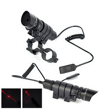 Red Dot Laser Sight Tactical Rifle Gun Scope Rail Mount Remote Switch Hunting