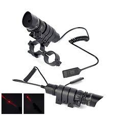 Red Dot Laser Sight Tactical Rifle Gun Scope Rail +Mount+Remote Pressure Switch