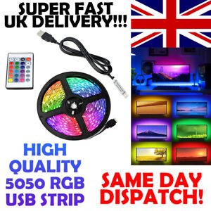 LED STRIP LIGHTS 5050 5 METER RGB COLOUR CHANGING - BACKLIGHT - REMOTE CONTROL